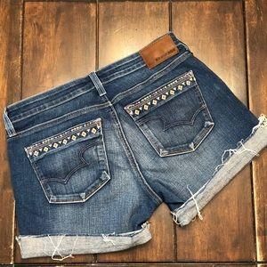 Big Star Embroidered Detail Denim Shorts